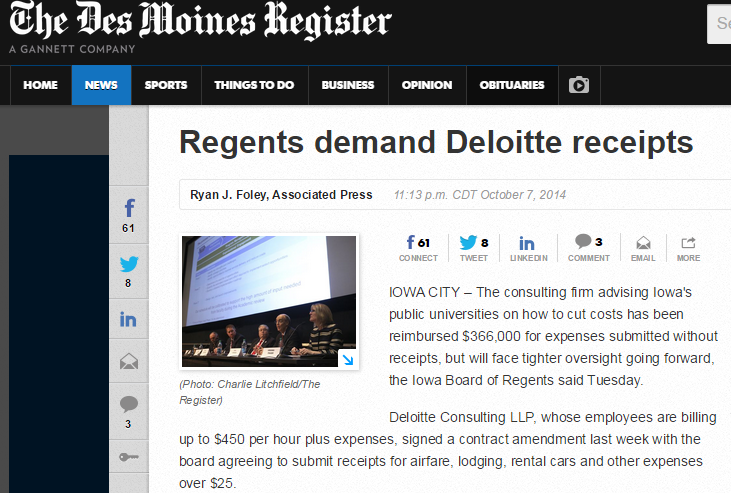 Deloitte expenses