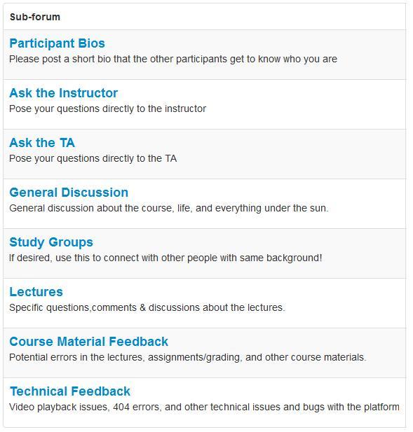 MOOC - Coursera topics