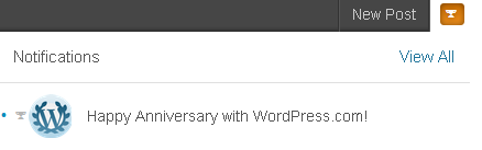 Happy Anniversary with WordPress