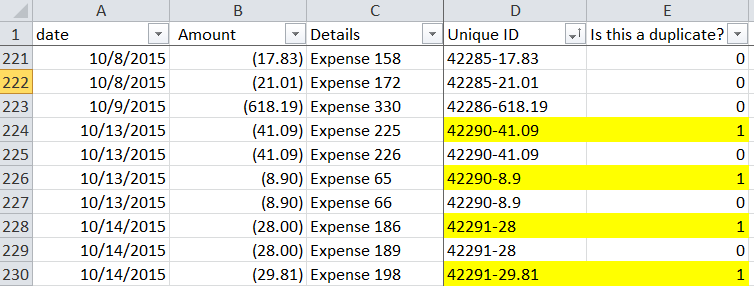how to clear duplicate values in excel