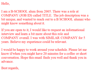 consultants mind informational interview email consultant s mind